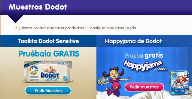 muestras gratis dodot