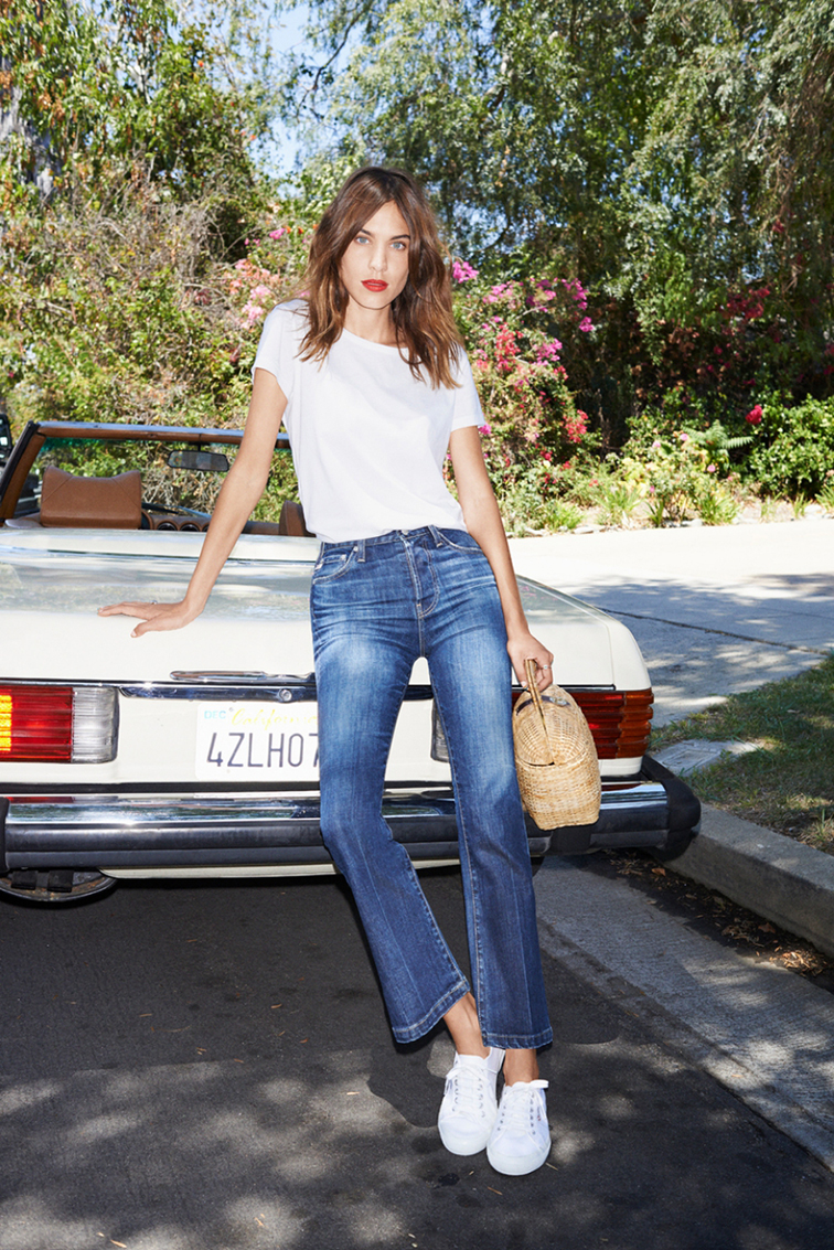 Alexa Chung for AG Jeans collection photographed by Angelo Pennetta