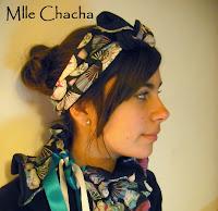 Bandeau, turban, ceinture, accessoire de mode, créateur,Mlle chacha, bandeau, col écharpe, turban, français, fait main, tour de cou
