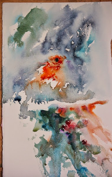 Watercolours With Life: Watercolour Christmas Card Challenge 2014
