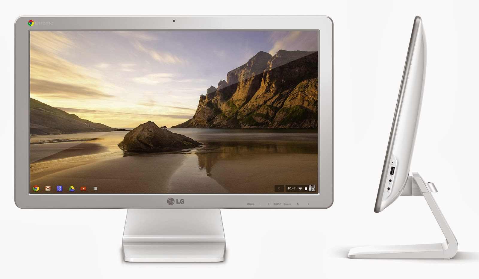 Equipped with a Full HD 21.5-inch screen, this is the first all-in-one Google Chrome OS, signed by LG.