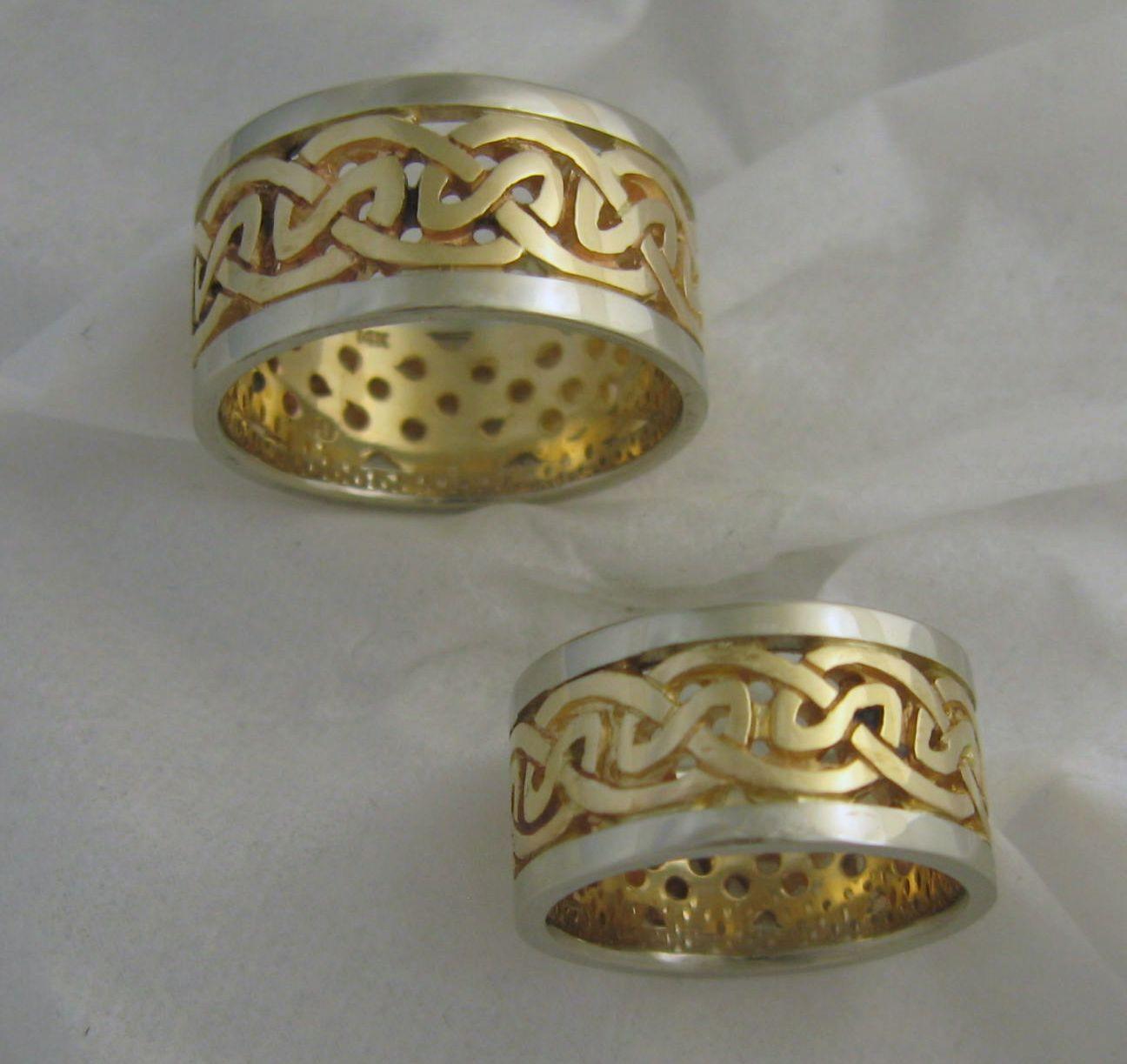 James Hunt Designs Celtic Knot Wedding Bands