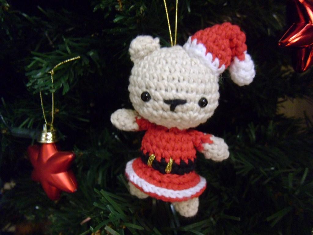 Amigurumi Natalizi : Es un Mundo Amigurumi: Patron de Osa de Navidad Amigurumi!!!!