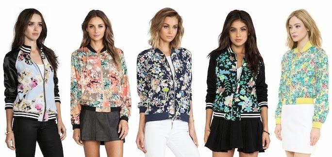 shop floral print bomber jackets