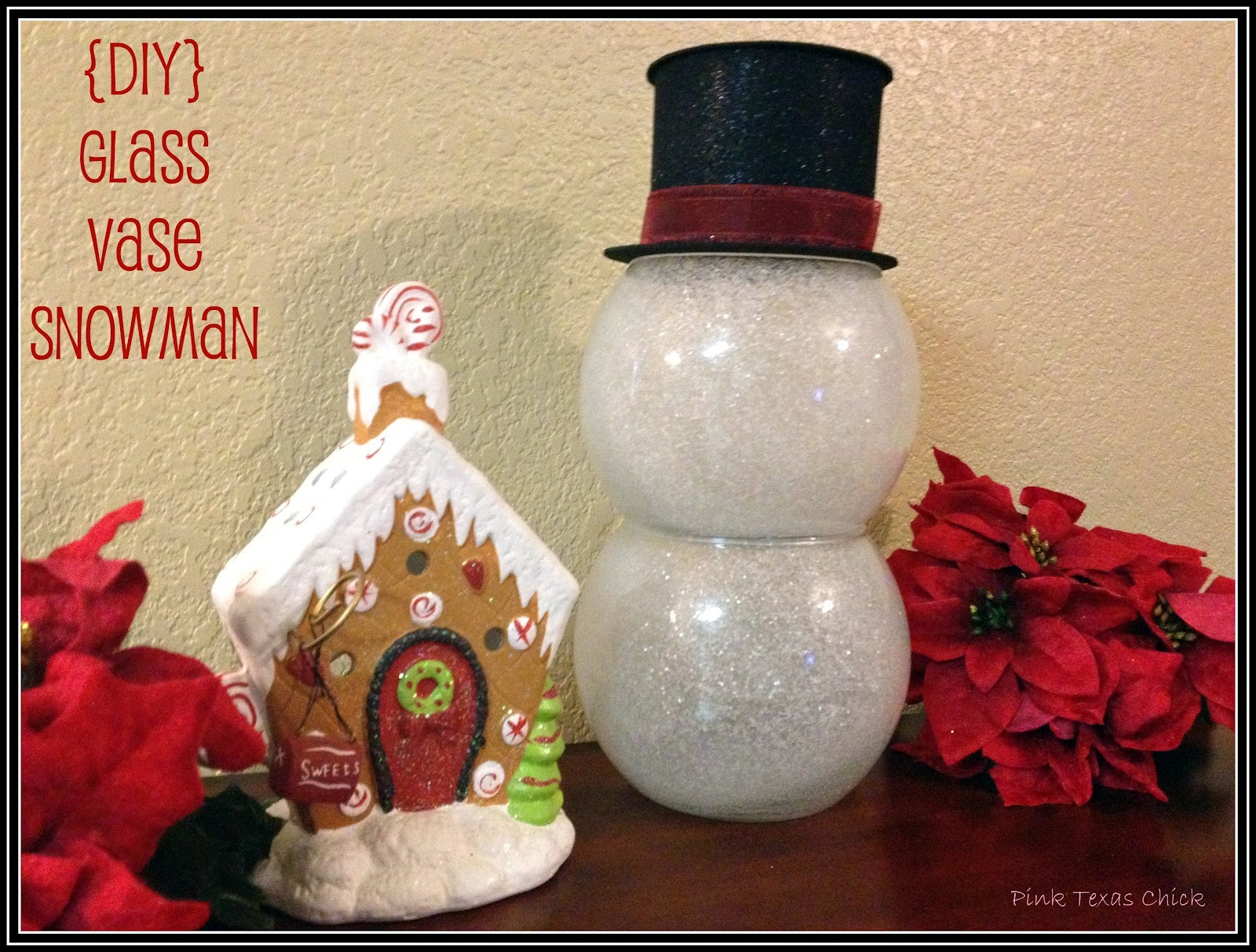 Glass vase snowman decor craft diy i reviewsmspy
