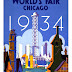 World's Fair Chicago 1934, Tour the World at the Fair - Vintage Advertising Printable Poster