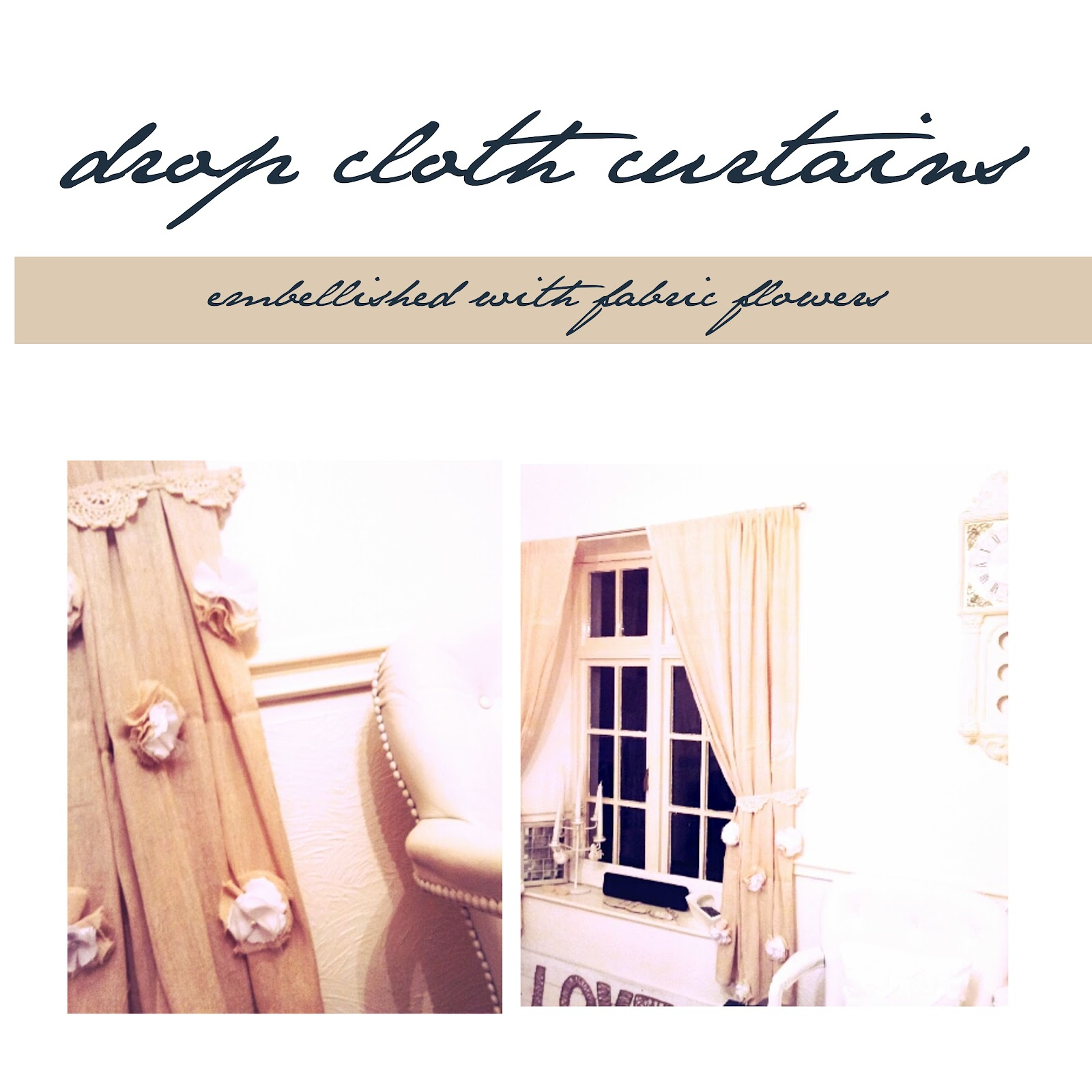Drop Cloth Curtains Tutorial Embellished Drop Cloth Curtains Tutorial Twigg Studios