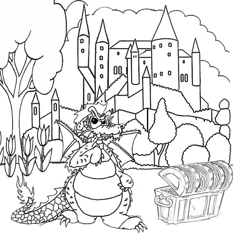 Fantasy Dragon Coloring Pictures