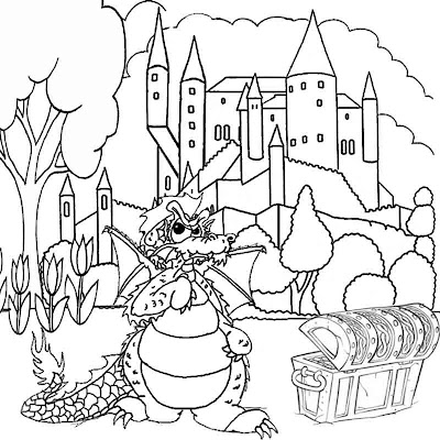 Online legendary pictures fantasy mythical dragon coloring pictures to print and color in worksheets