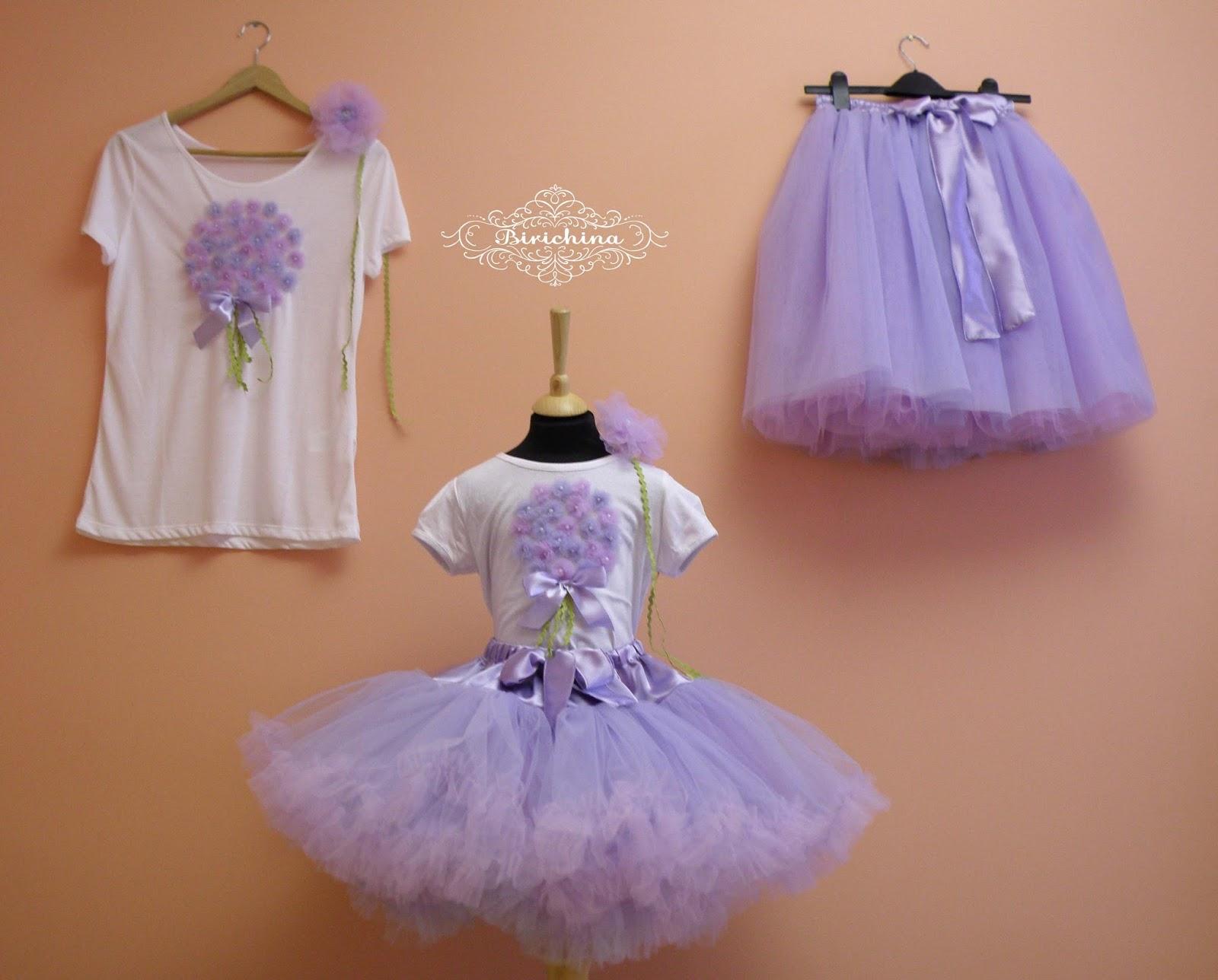 Фатиновая юбка для мамы и дочки своими руками 62