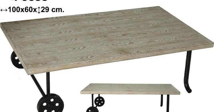 Muebles de forja mesas de centro con ruedas serie agmar - Mesas de centro con ruedas ...