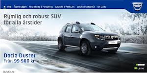 Din Duster finner du via Dacia.se klicka på bilden
