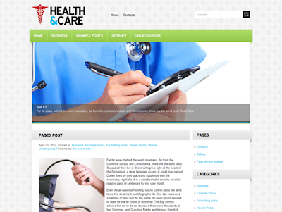 WordPress - HealthCare Template Free Download