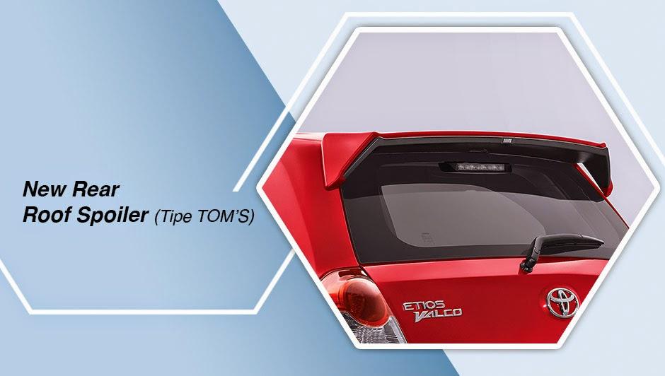 New Rear Roof Spoiler (Tipe TOM'S) etios valco