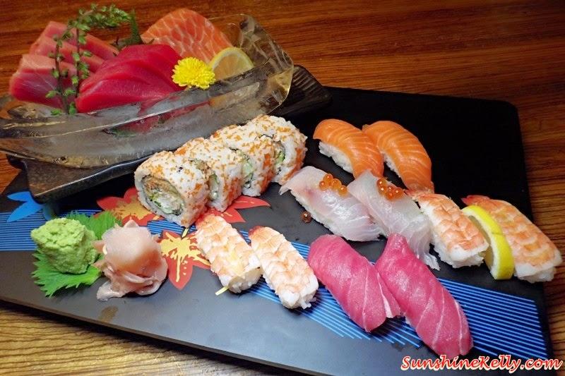 Genji Japanese Restaurant, Hilton Petaling Jaya, Osaka Tokyo Menu, Japanese Food, Sashimi and Sushi Combi