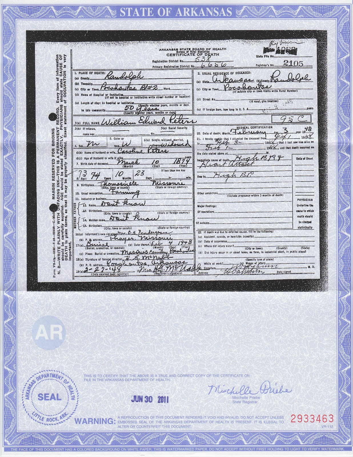 Sample oregon death certificate image collections certificate welcome to genealogy by ginger march 2012 his daughter danie pendergrass filled out his death certificate xflitez Gallery