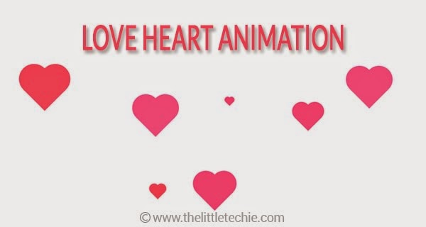 Love heart animation using CSS3 & JavaScript
