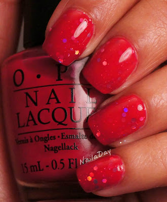NailaDay: OPI Too Hot Pink to Hold'Em and China Glaze Techno sandwich