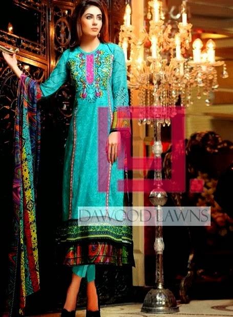 Printed Chiffon Lawn Dresses by Dawood