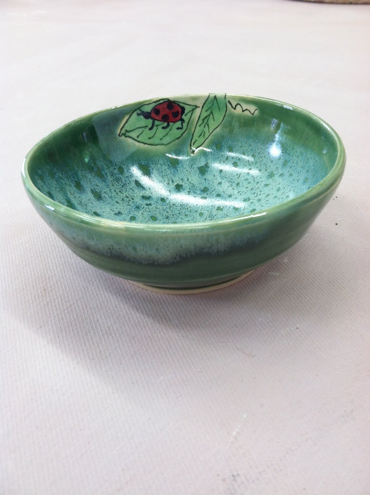 Ladybug bowl