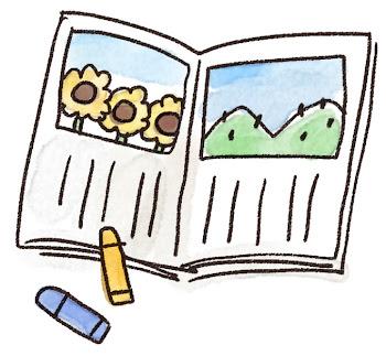 絵日記のイラスト(夏休み)