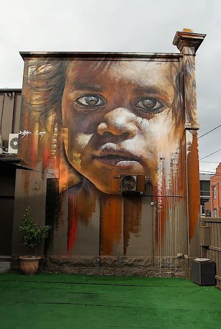 Matt adnate new mural in melbourne australia for Australian mural