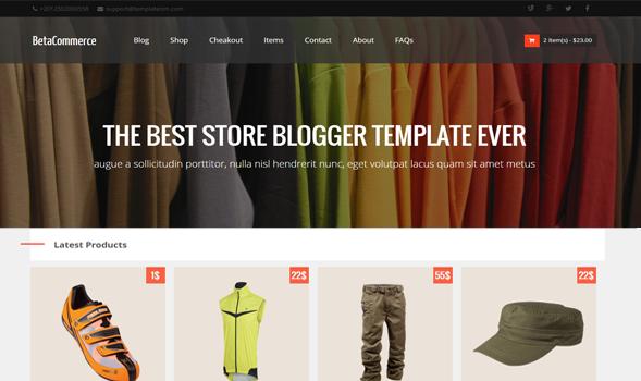 BetaCommerce Shopping Blogger Template