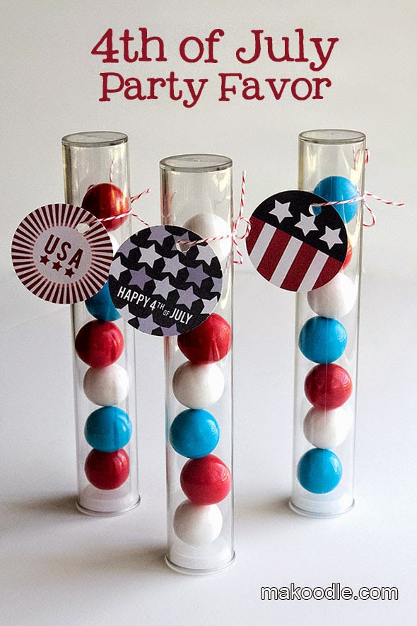 Memorial Day candy tube