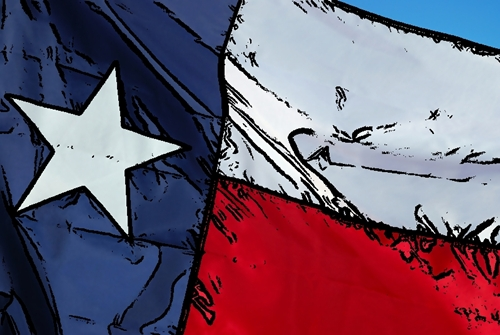 lone star flag cartoon small