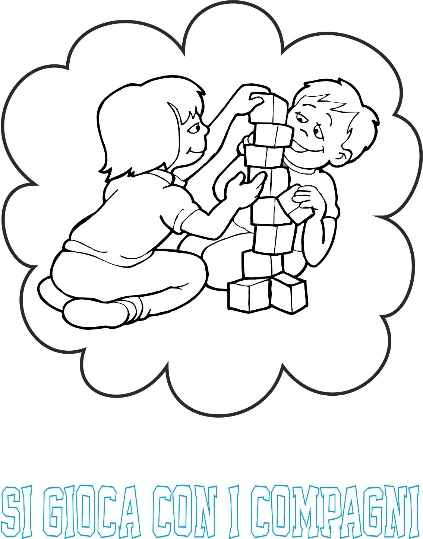 A scuola con poldo cartelloni delle regole for Cartelloni scuola infanzia