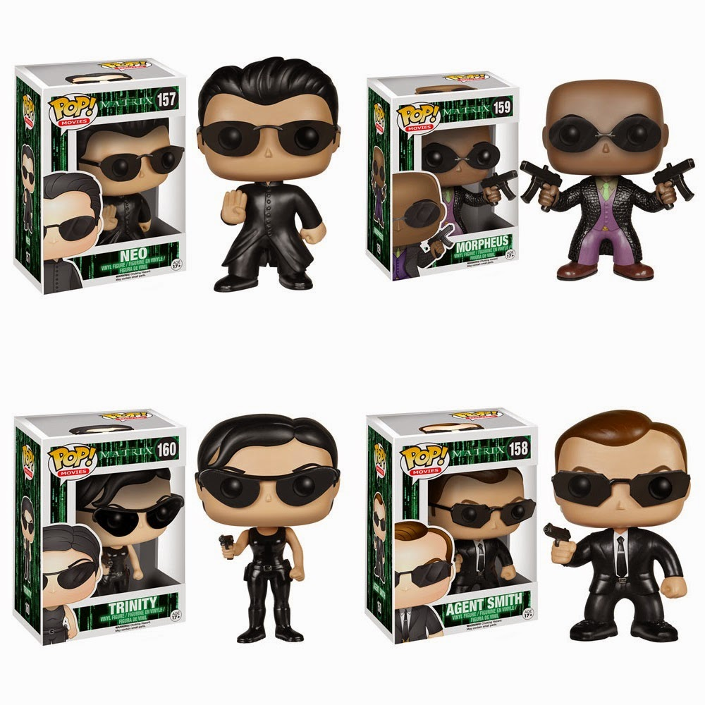 The Matrix Pop! Movies Series by Funko - Neo, Morpheus, Trinity & Agent Smith