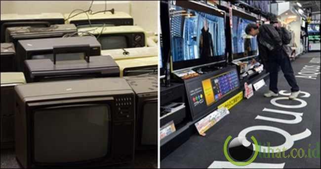 Dulu: TV tabung - Sekarang: TV LCD/LED, Smart TV
