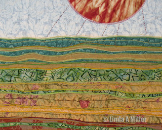 Linda A Miller - Detail landscape in progress