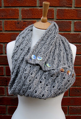 Free Knitting Pattern For Eyelet Cowl : Knitting and More: Rib Lace Scarf/Cowl