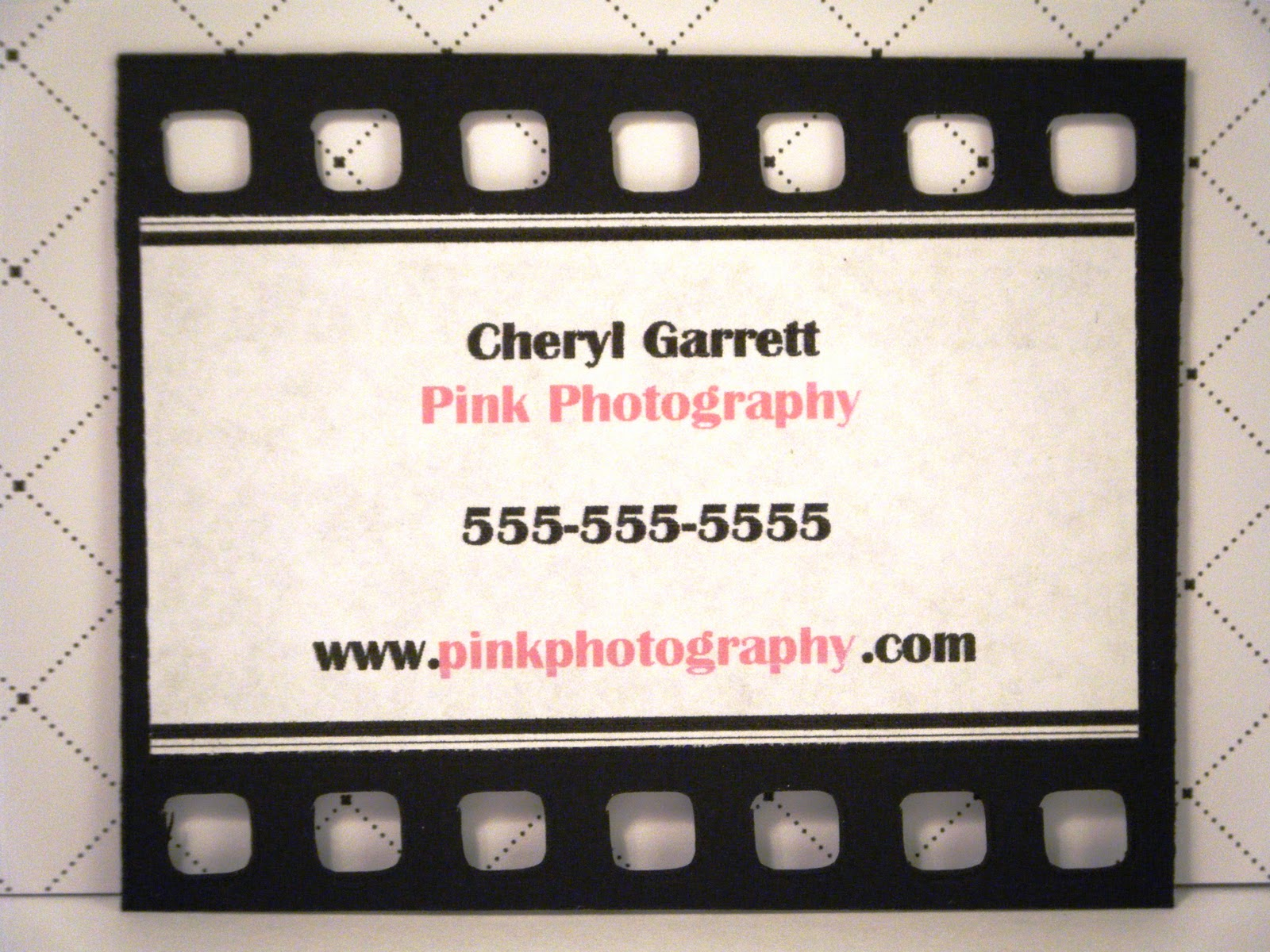 Pink and paper business cards on this first one i was thinking it would be fun to make it look like film i realize most cameras are digital now and dont use film but who cares magicingreecefo Images