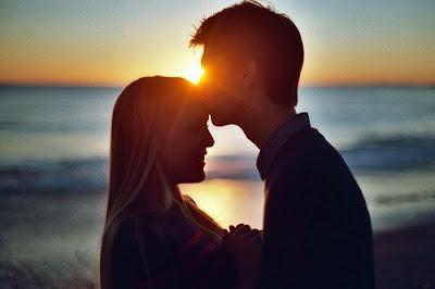 amour coucher de soleil