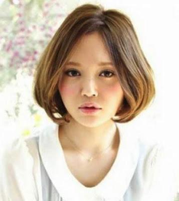 model potongan rambut line bob wanita jepang