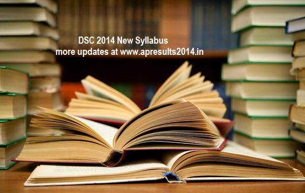 AP DSC TERT 2014 Exam Pattern-DSC 2014 New Syllabus Updates at apdsc.cgg.gov.in