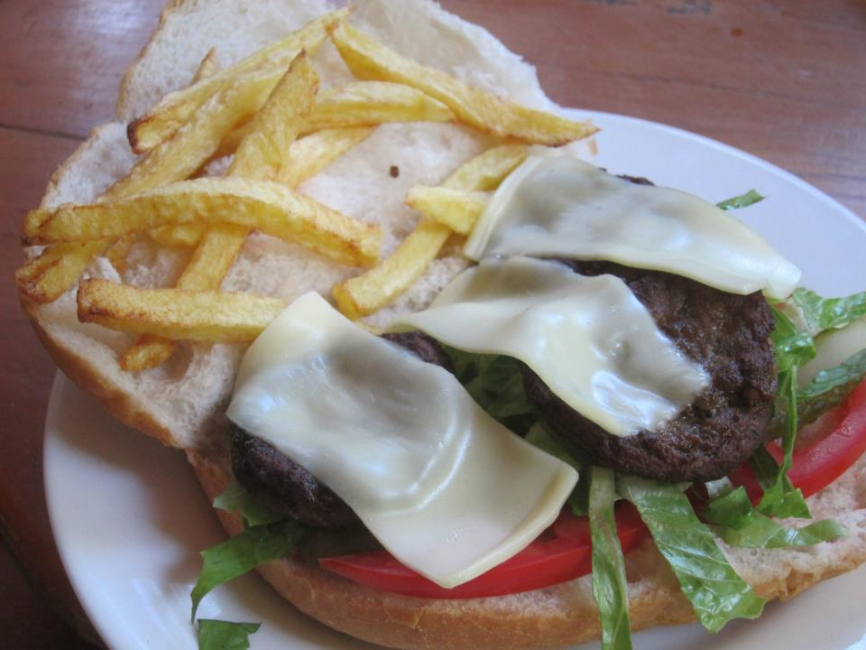 Turkish Kofte Meatball burger in Olympos, Turkey