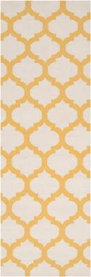runner, flat weave, surya, yellow, white, frontier