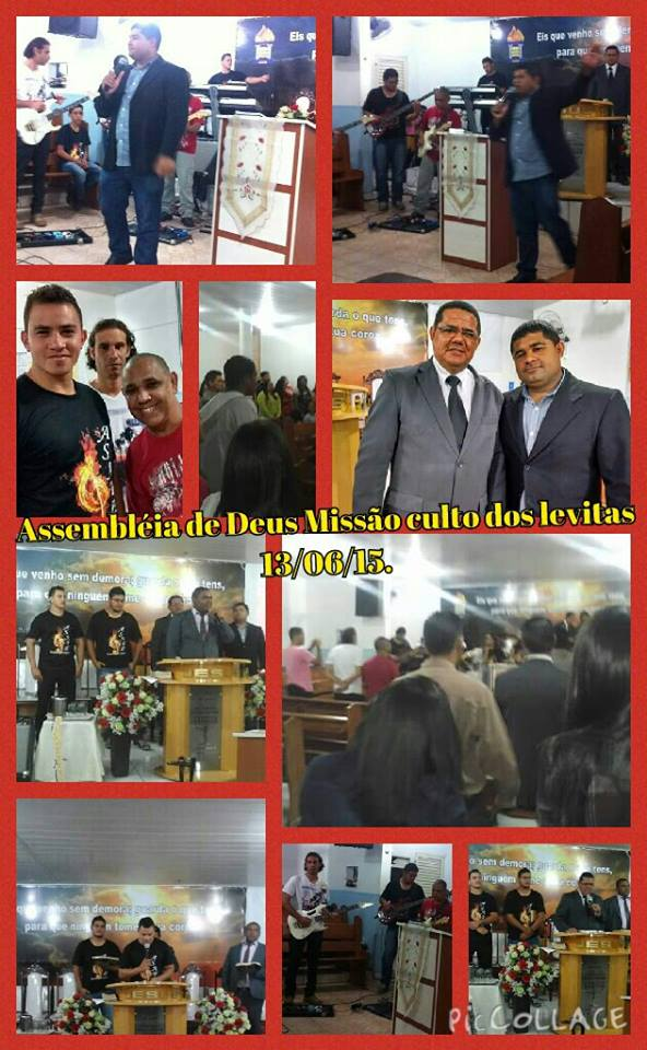 "IGREJA ASSEMBLEIA DE DEUS (MISSÃO) ""Culto dos Levitas 13/06/15."