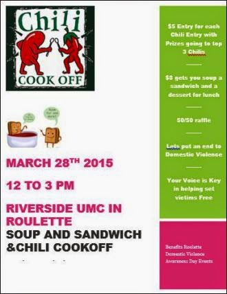 3-28 Chili Cook Off Riverside UMC Roulette