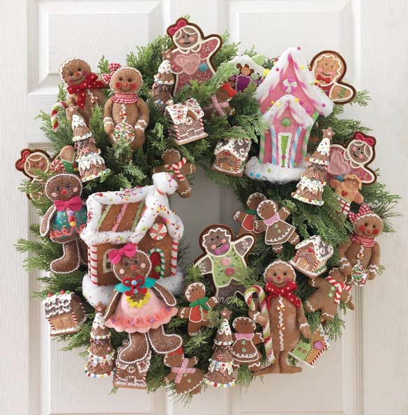 christmas at shelley b home and holiday christmas gingerbread wreath