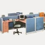 Kantor Partisi 4-Staff Configuration Uno Executive Partition