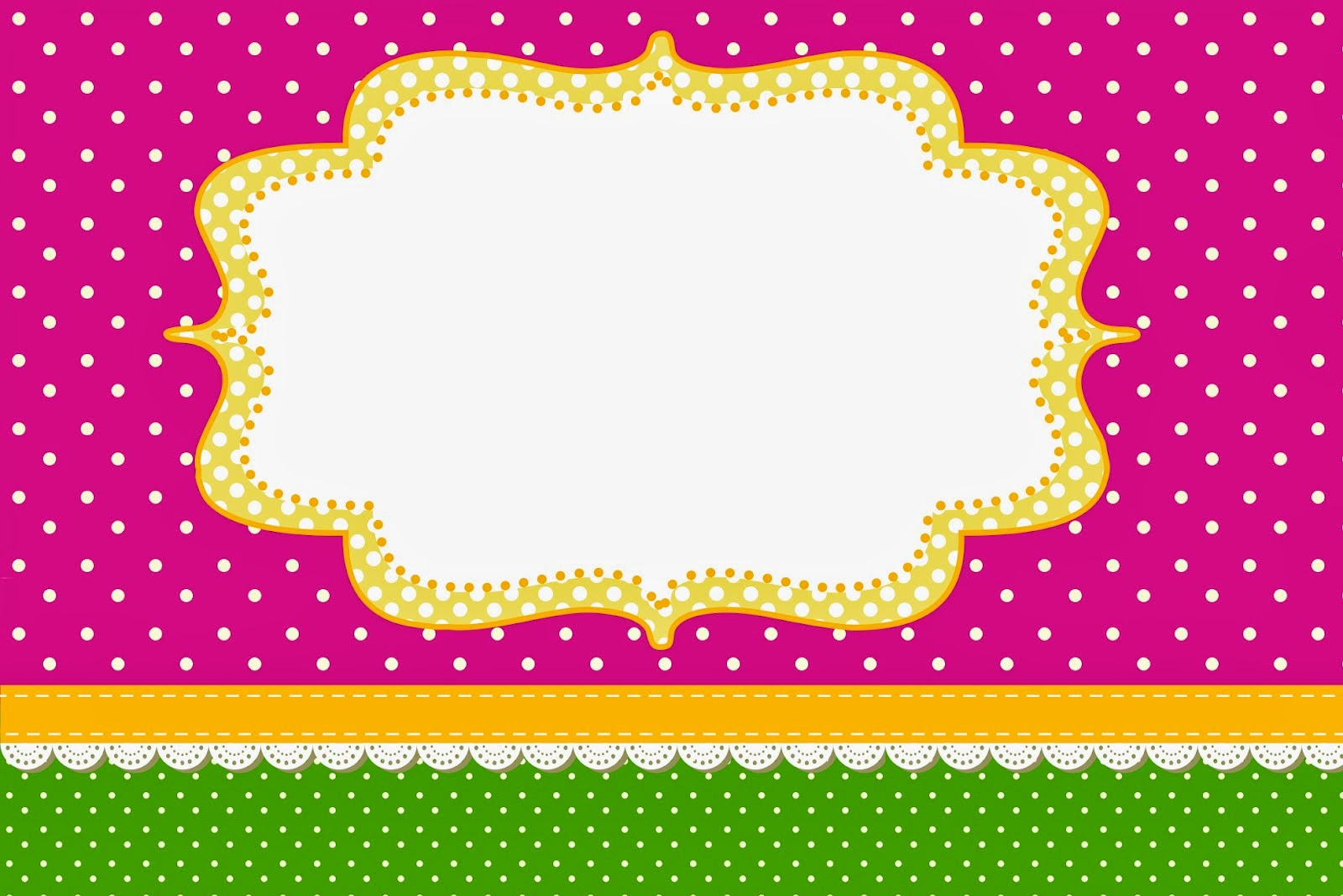 Fucsia y verde invitaciones para imprimir gratis oh my - Plantillas decorativas infantiles ...
