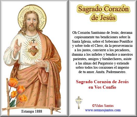 JUNIO MES DEL SAGRADO CORAZON DE JESUS: Oraciones al Sagrado Corazón ...