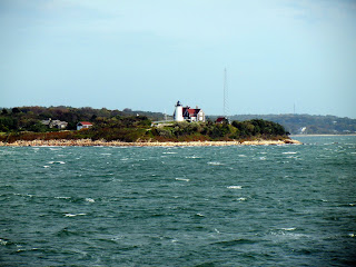 View of Nobska lighthouse off of the Martha's Vineyard ferry