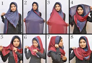 Cara Memakai Jilbab terbaru 2012