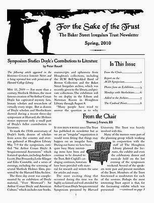 BSI Trust Spring 2010 Newsletter