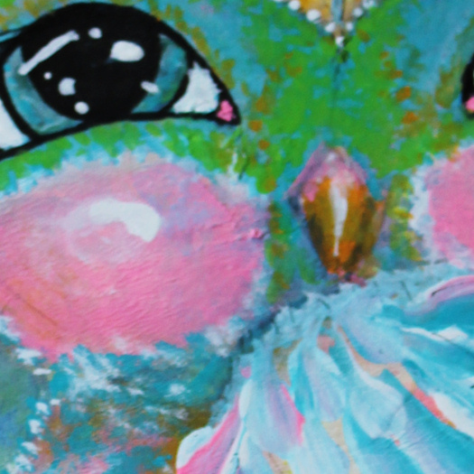 Close Up 1 Of Night Owl by Tori Beveridge